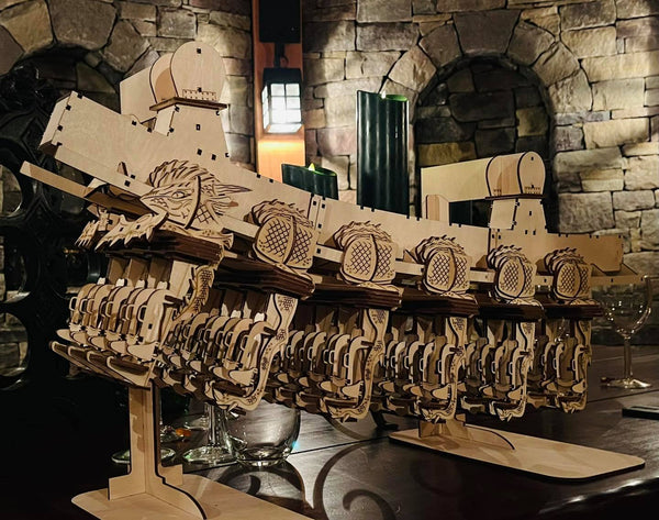Dueling Dragons Full Train Coaster Cutout