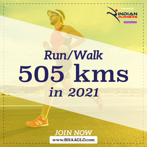 Run 505 Kms in 2021
