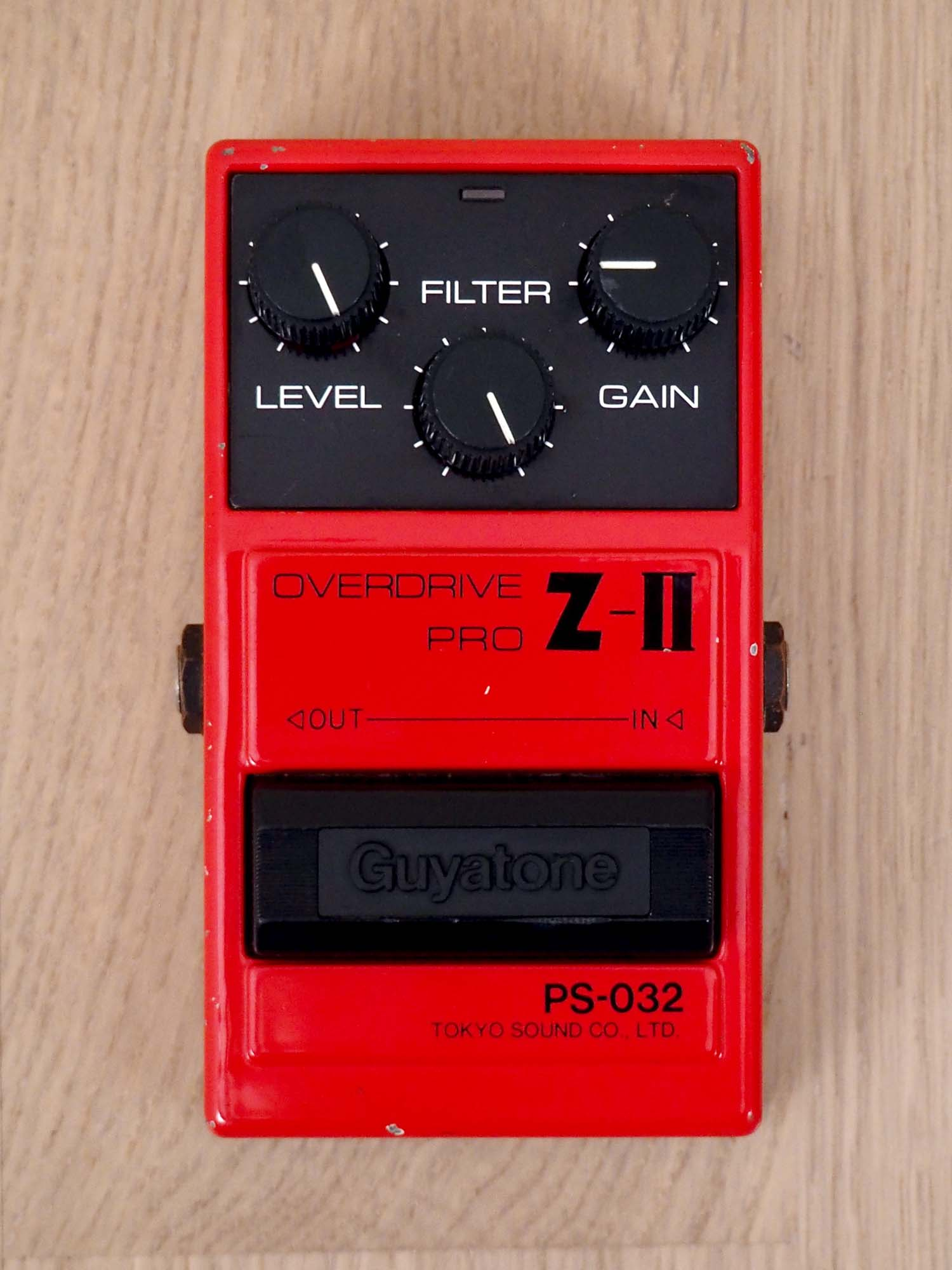 1980s Guyatone PS-032 Overdrive Pro Z-II Vintage Guitar Effects Pedal Japan