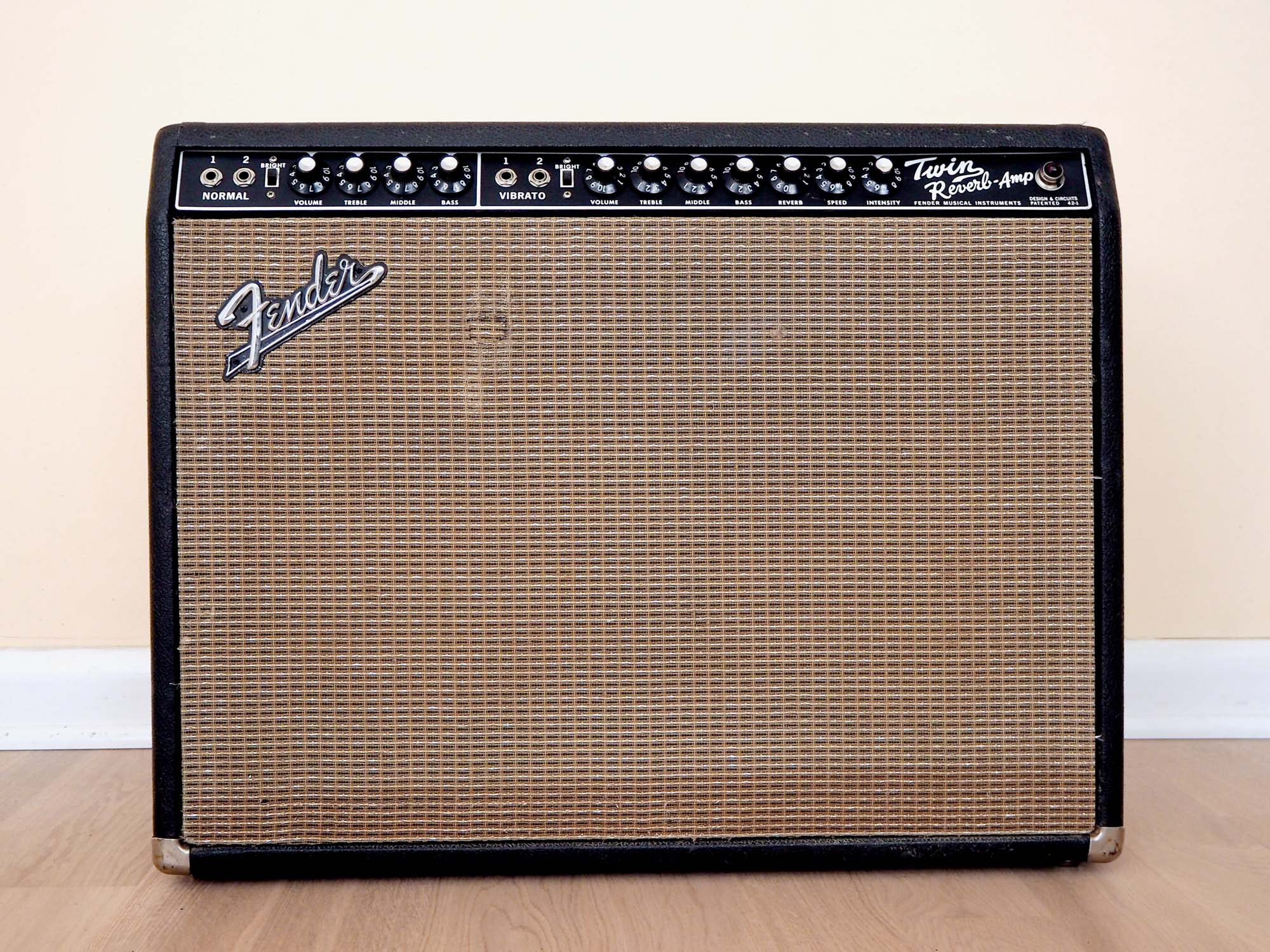1967 Fender Twin Reverb Blackface Vintage Tube Amp 2x12 w/ Oxford 12T6 Speakers