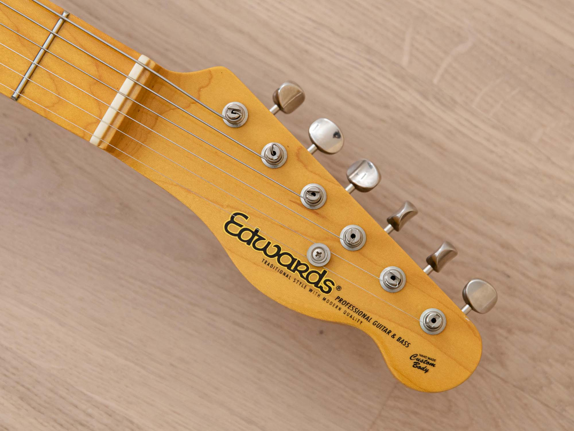 2014 Edwards by ESP E-TE-92M/LT Electric Guitar T-Style Blonde Ash w/ Seymour Duncans, Japan