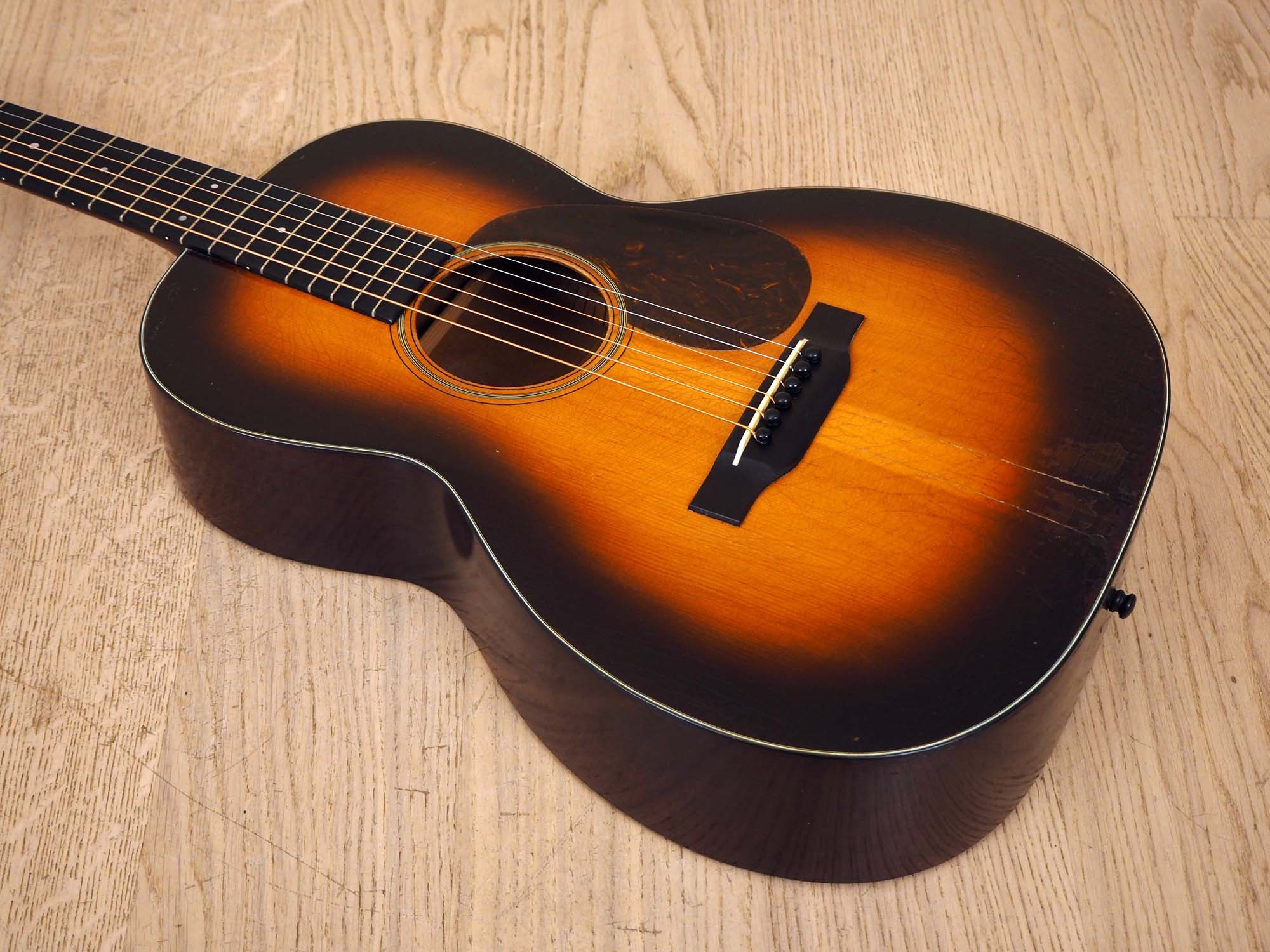 1937 Martin 00-18H Hawaiian Conversion Shaded Top Vintage Acoustic Guitar, Adirondack Spruce w/Case