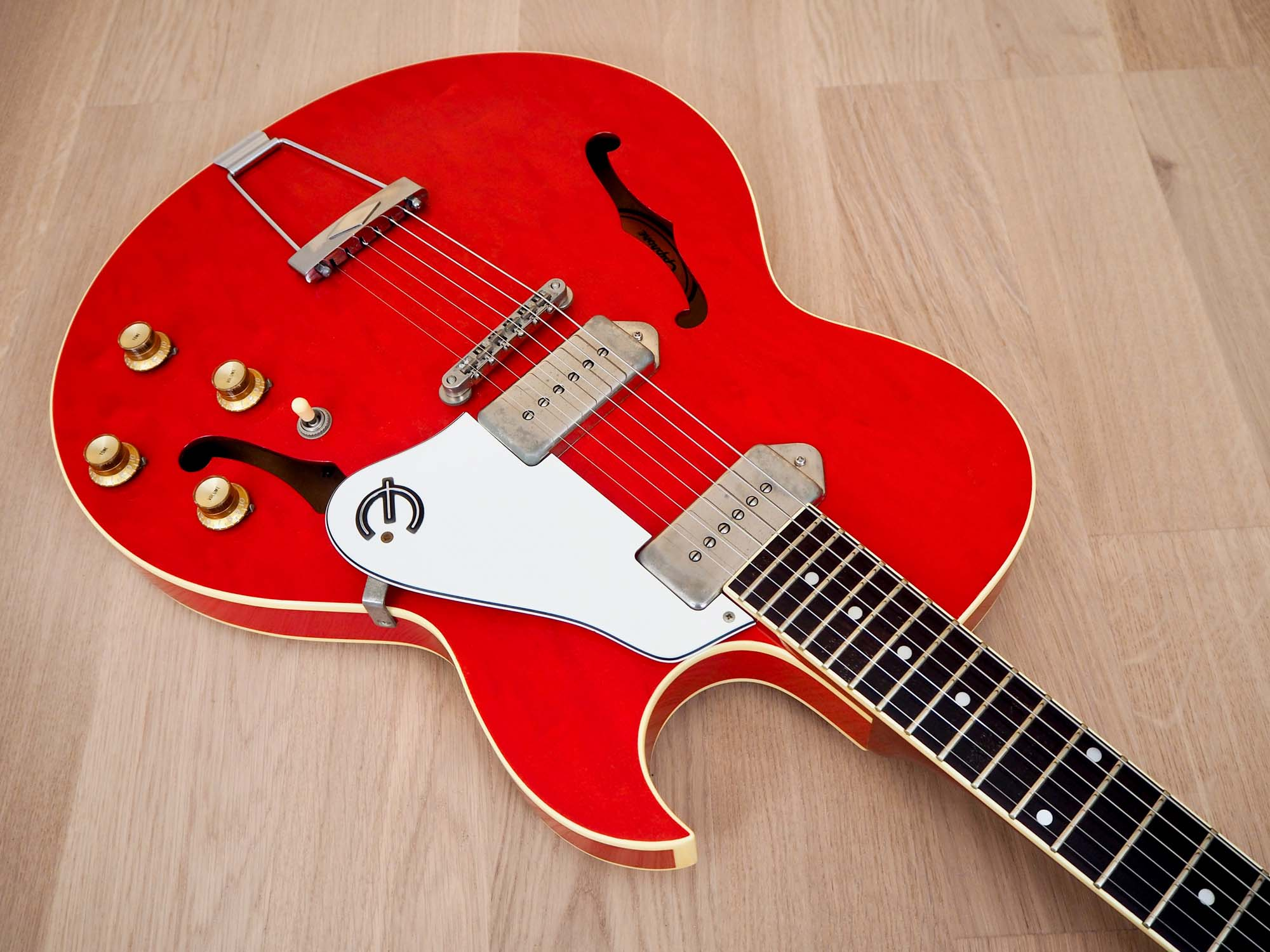 1991 Epiphone Sorrento ES-930J Hollowbody Electric Guitar Cherry w/ Case, Japan Terada