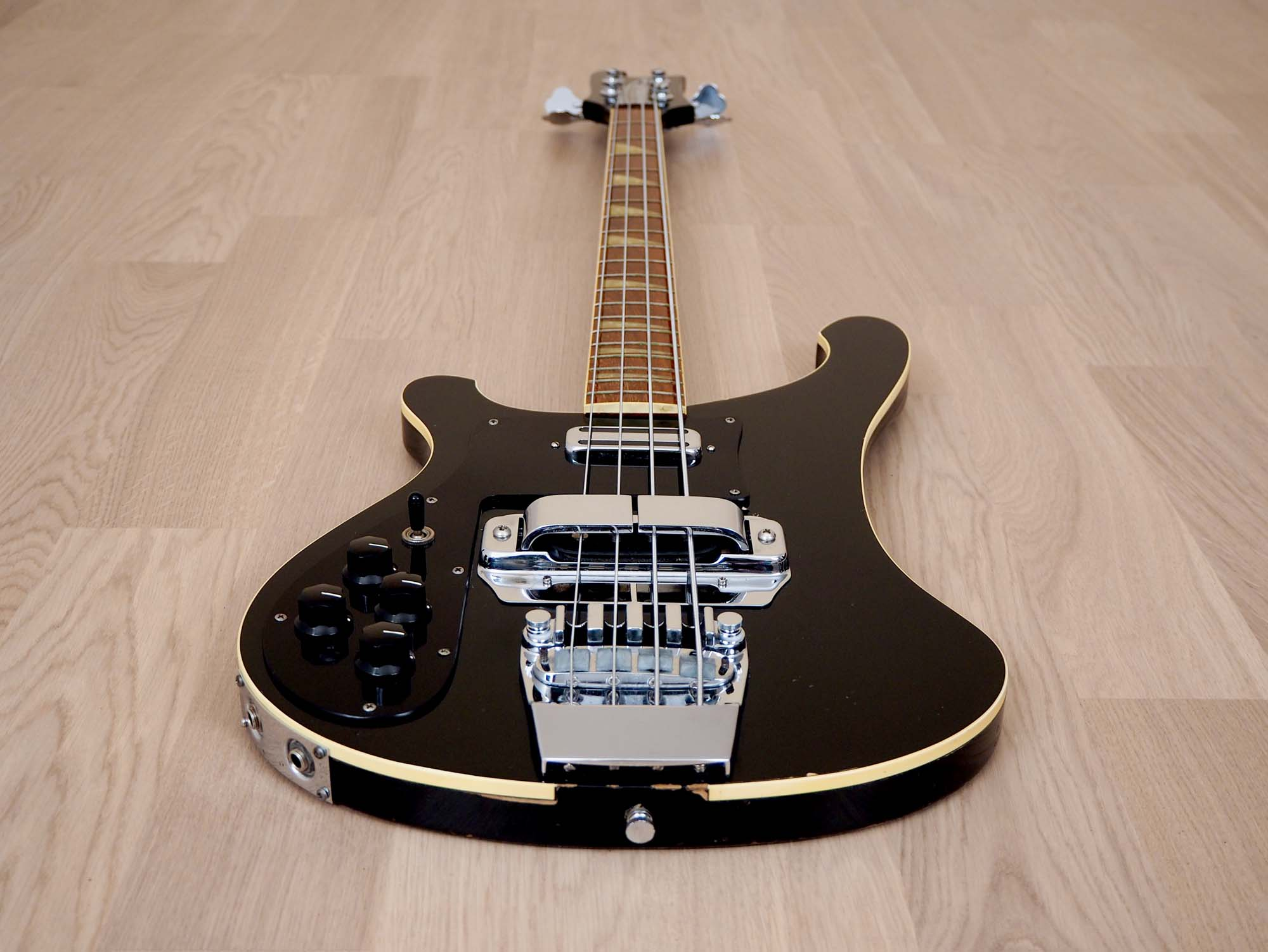 1978 Rickenbacker 4001 Vintage Bass Jetglo Left Handed w/ Toaster Top & Horseshoe Pickups