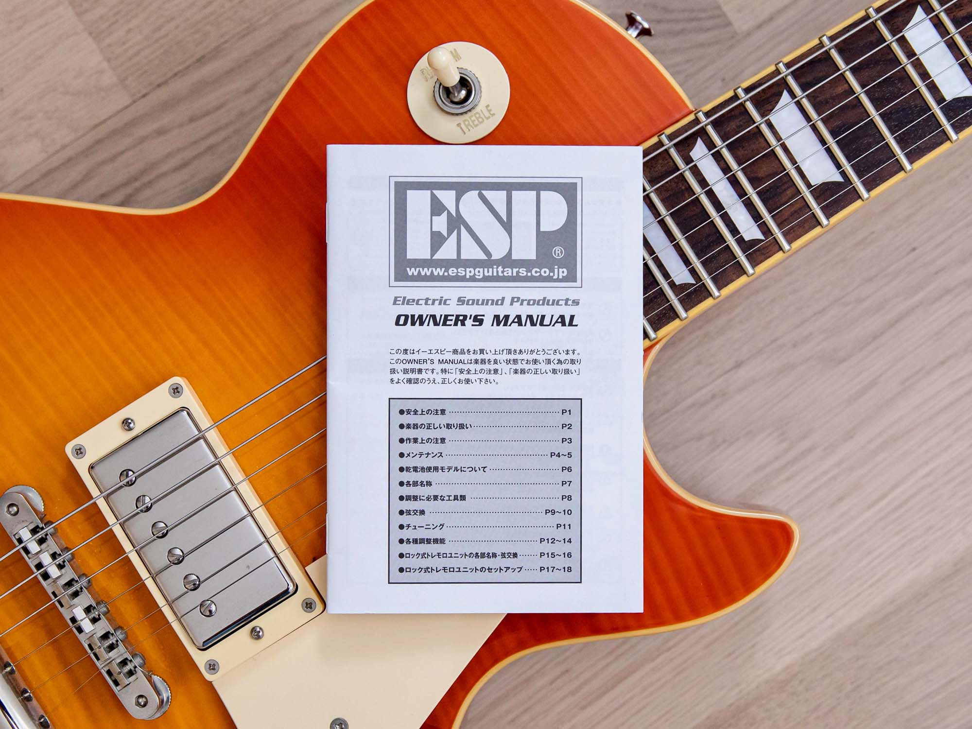 2014 Edwards by ESP Limited Model E-LP-100SD Flame Top w/ USA Seymour Duncan Pickups, Japan
