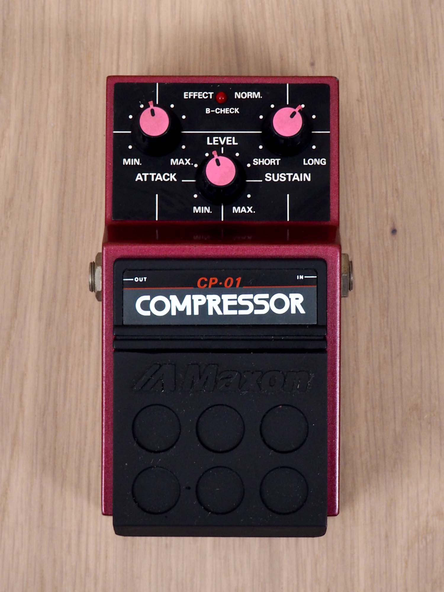 1980s Maxon CP-01 Compressor Vintage Effects Pedal, Japan, Ibanez CP-9