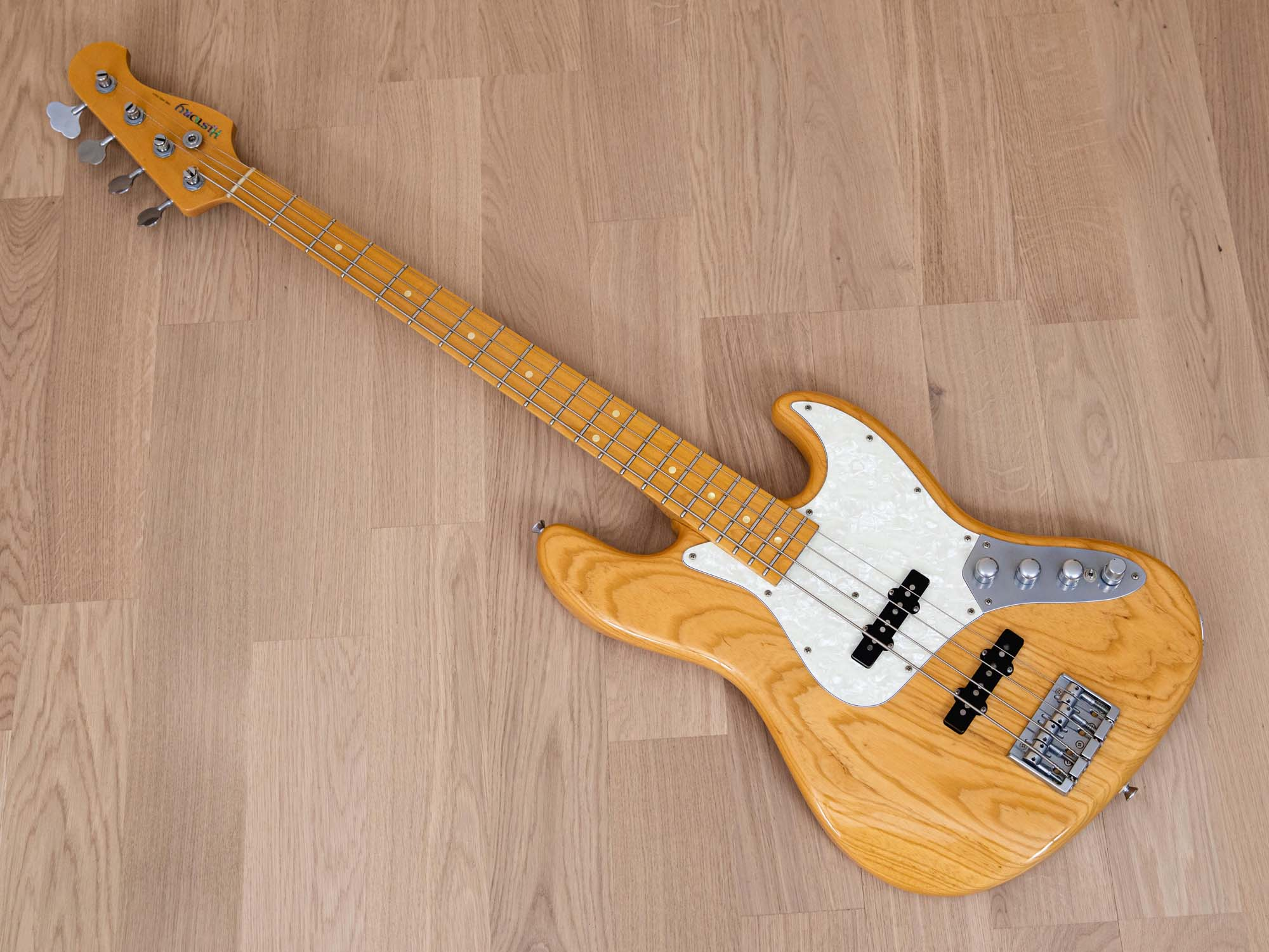 2012 History GH-BJ4A/M Heritage Wood Jazz Bass Natural Ash w/ Aguilar Preamp & Case, Japan Fujigen
