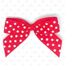 Load image into Gallery viewer, Grosgrain Polka Dot Ribbon Bows - 5cm