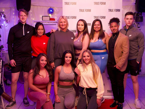 launch party of true form uk, a gym clothing brand in UK