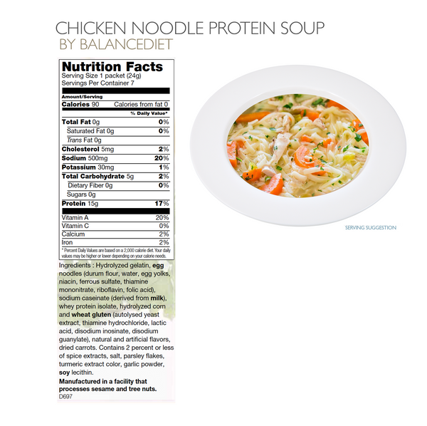 Chicken Noodle Protein Soup - BalanceDiet  - 3