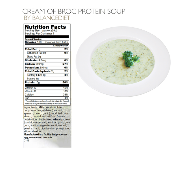 Cream of Broccoli Cheddar Protein Soup - BalanceDiet  - 3