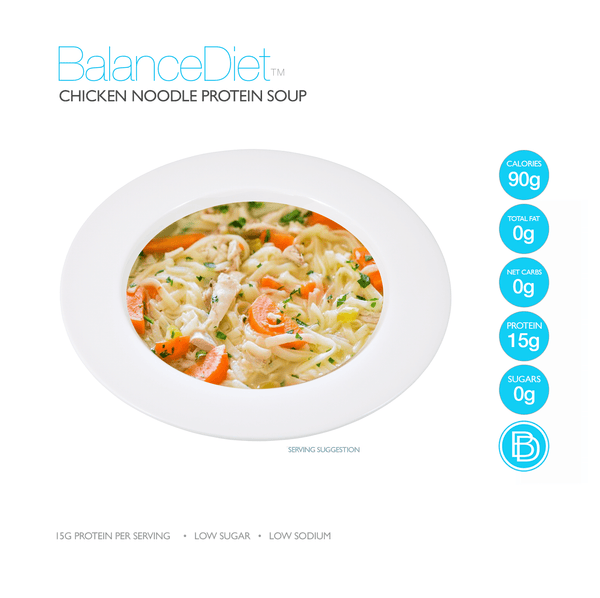 Chicken Noodle Protein Soup - BalanceDiet  - 2