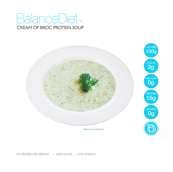 Cream of Broccoli Cheddar Protein Soup - BalanceDiet  - 2