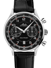 Mido Multifort Patrimony Chronograph - Stainless Steel - Black Leather Strap