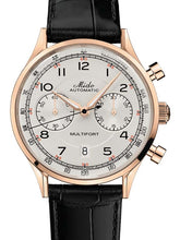 Mido Multifort Patrimony - Stainless Steel with Rose Gold PVD - Black Leather Strap