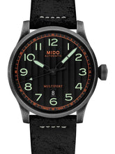 Mido Multifort Escape - Stainless Steel with Aged and Sandblasted PVD - Black Leather Strap