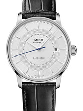 Mido Baroncelli Signature - Stainless Steel - Black Leather Strap