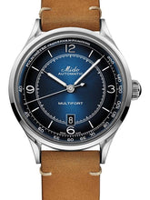 Mido Multifort Patrimony - Stainless Steel - Brown Patina Leather Strap
