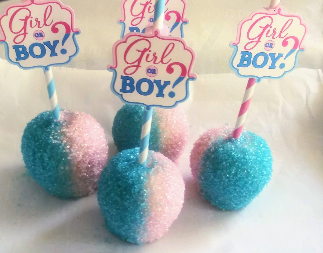 Gender Reveal Mini Apples
