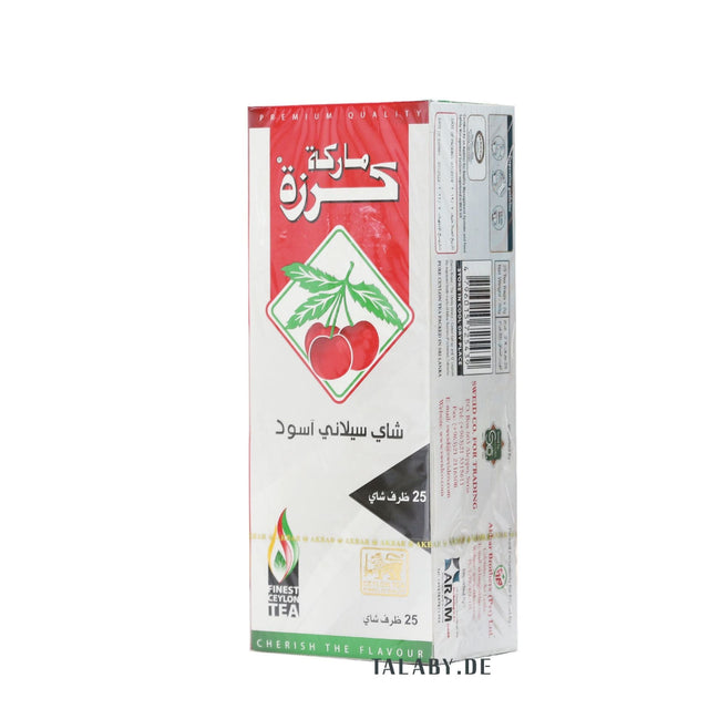 Ceylon Black Tea 25 Tea Bags - Cherry