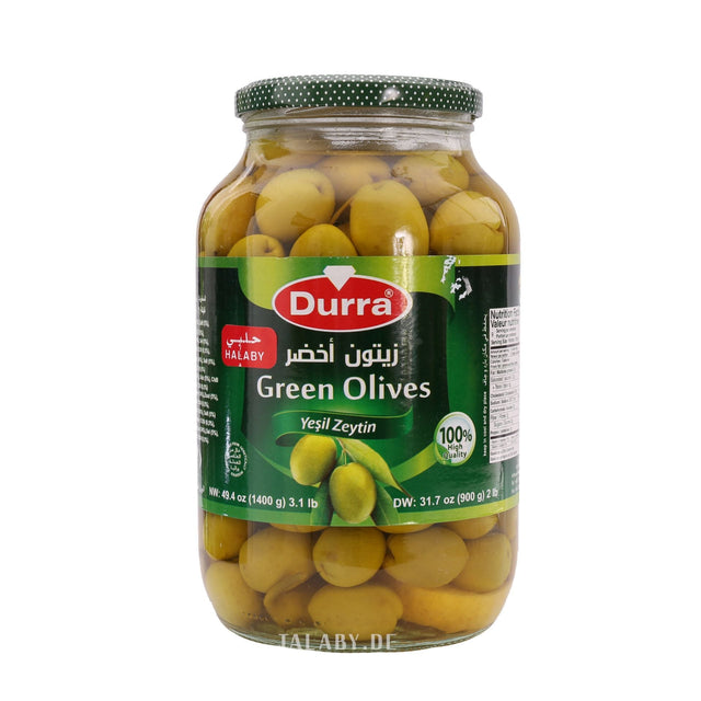 Green Olives Durra 1400g