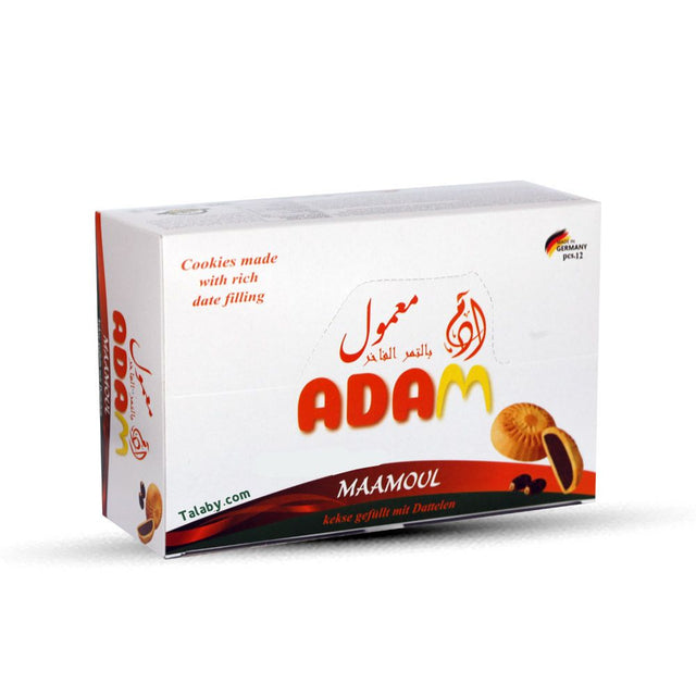 Adam Maamoul Cookies filled with Dates 12Pcs  480g  (Baked in Germany)