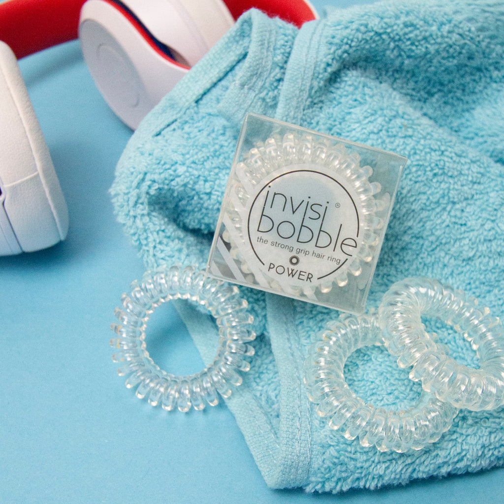 Sport collection from invisibobble. Strong hold for thick curly hair hirbands and hair ties. Comfortable and no pain hair accessories.