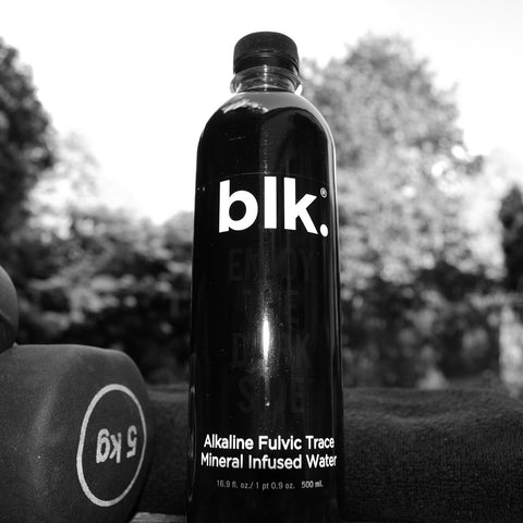 blk water refreshment during weights workout