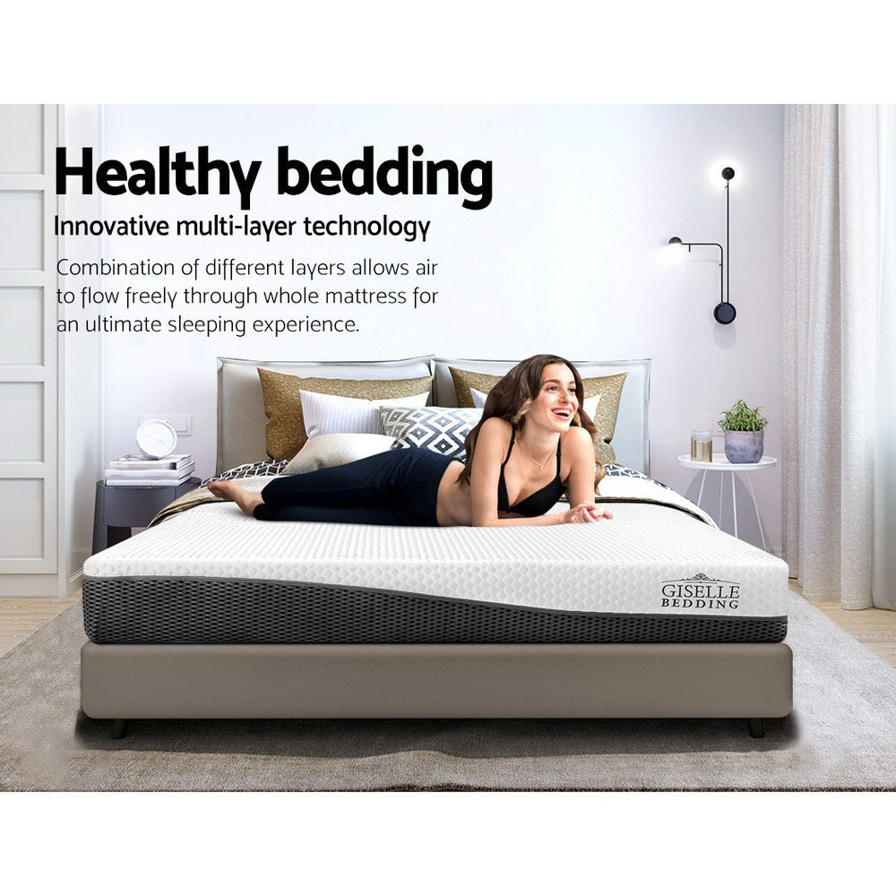 Single Size Memory Foam Mattress Cool Gel without Spring - Giselle Bedding