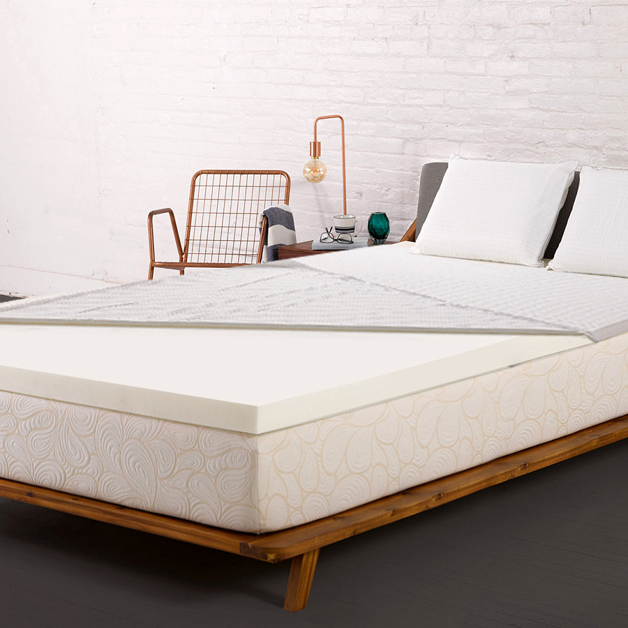 Memory Foam Mattress Topper w/Cover 8cm - King - Giselle Bedding