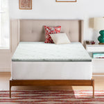 Cool Gel Memory Foam Mattress Topper w/Bamboo Cover 5cm - Single - Giselle Bedding