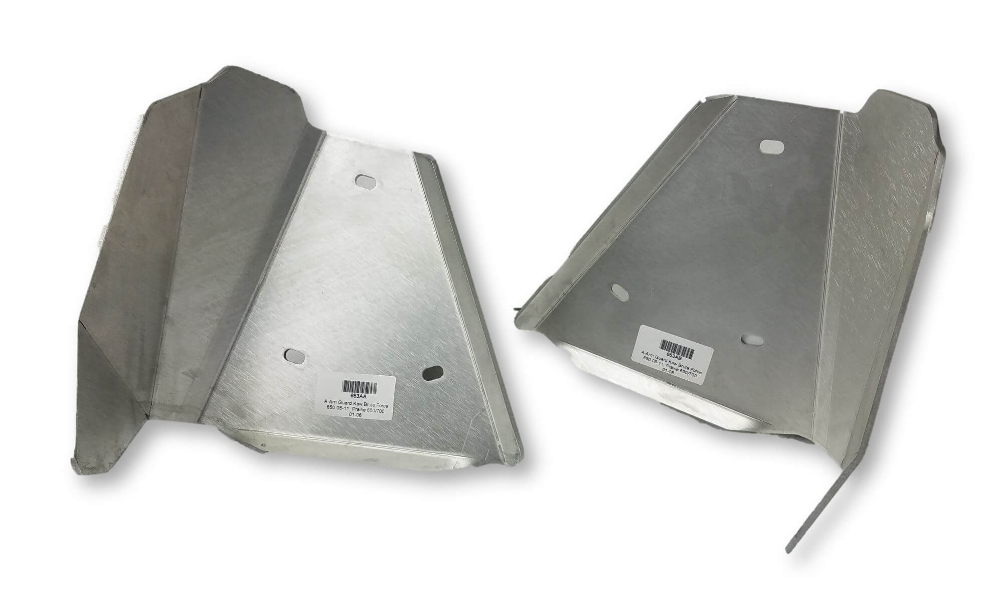 4-Piece Complete Aluminum Skid Plate Set, Kawasaki Brute Force 650 Solid Axle