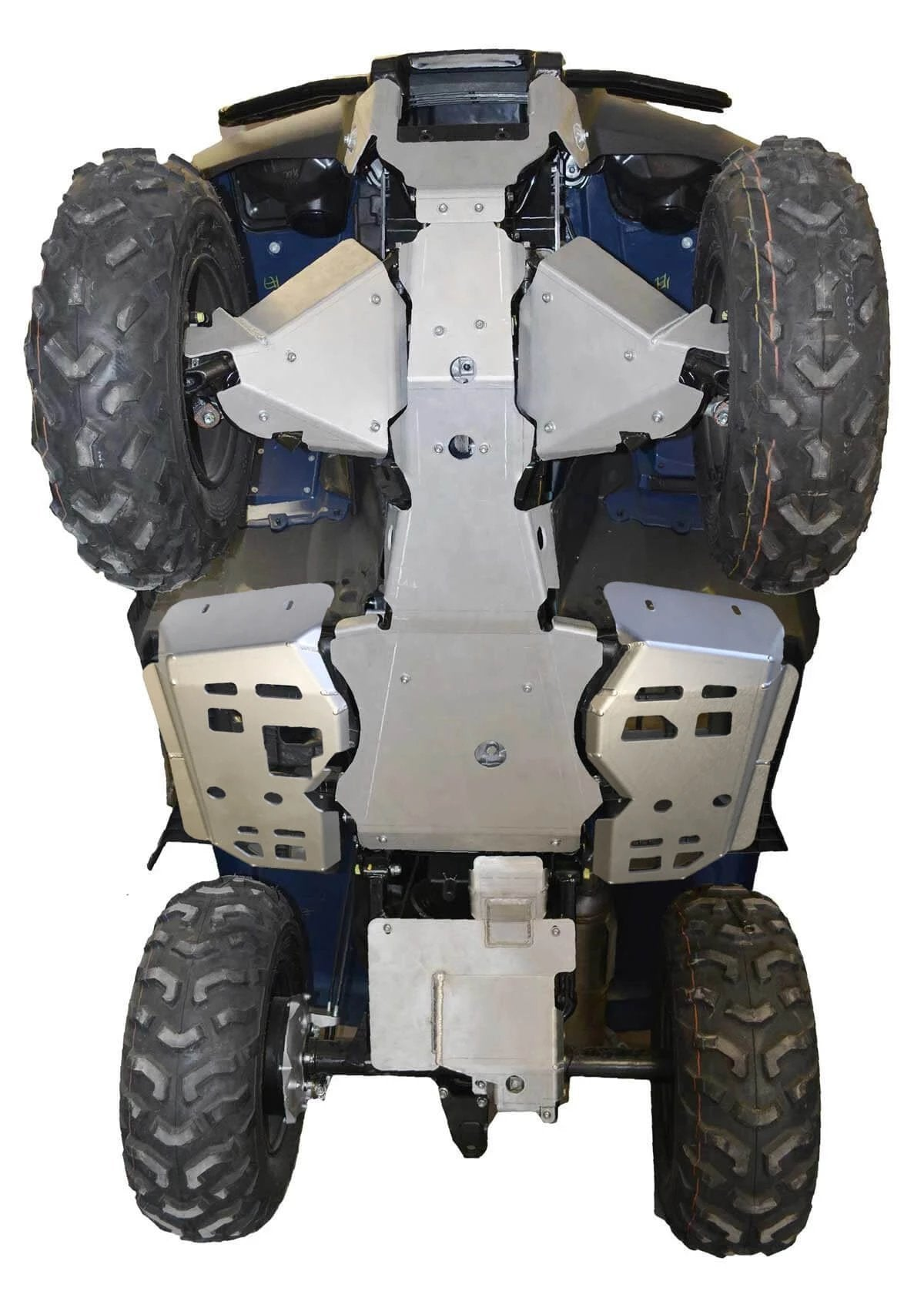 7-Piece Complete Aluminum Skid Plate Set, Honda TRX420 Fourtrax Rancher (Straight Axle)