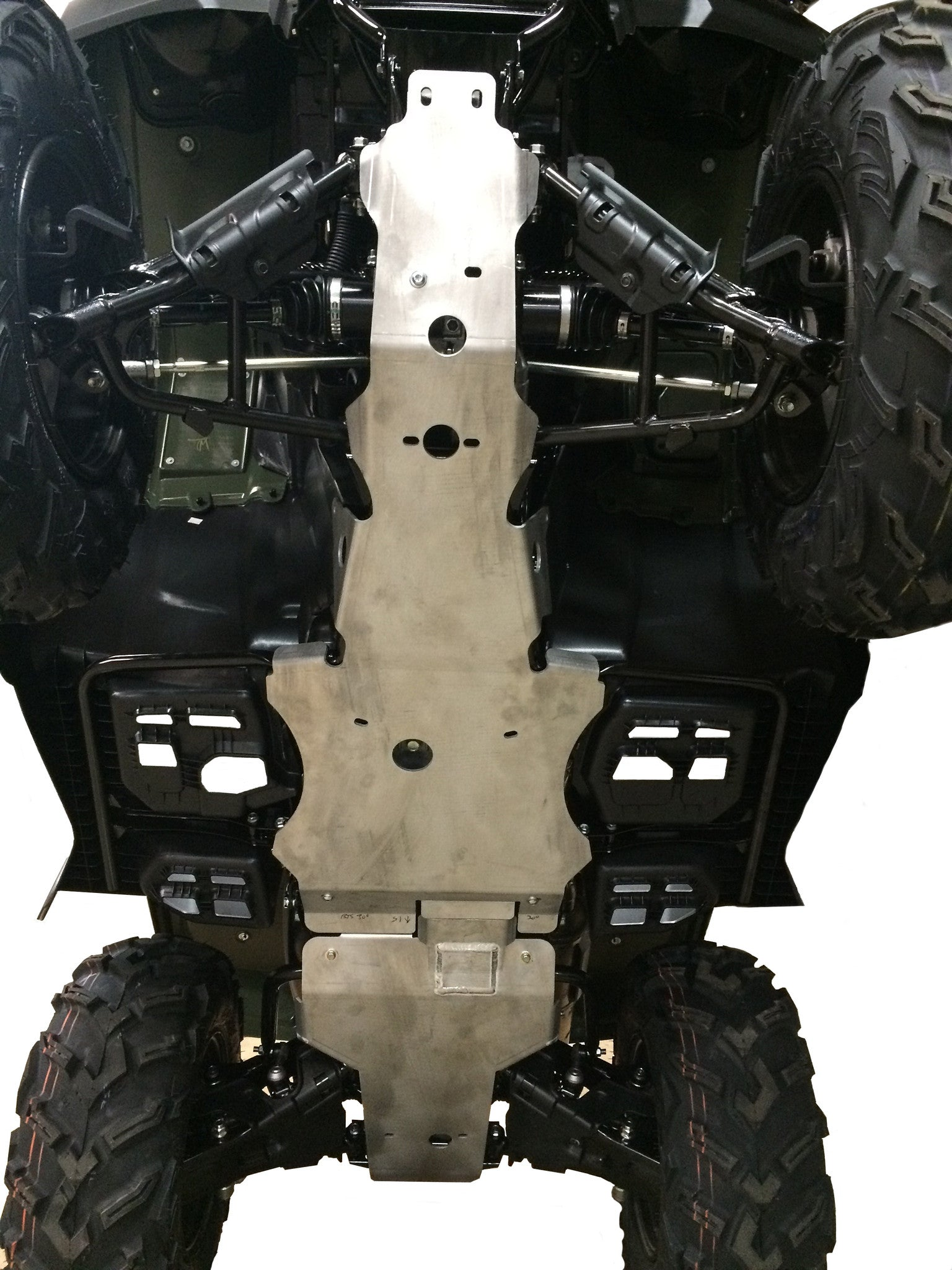 3-Piece Full Frame Skid Plate Set, Honda FourTrax Rubicon