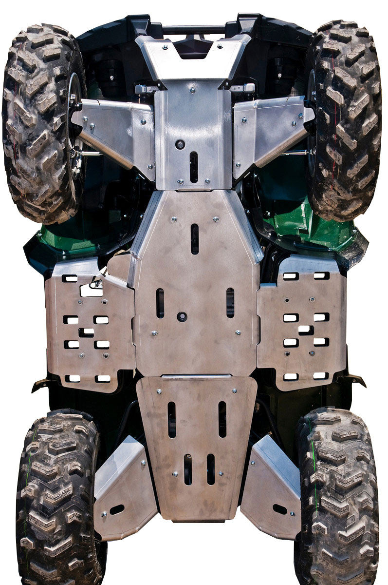 10-Piece Complete Aluminum Skid Plate Set, Yamaha Grizzly 550