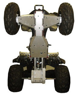 4-Piece Complete Aluminum Skid Plate Set, Yamaha Warrior