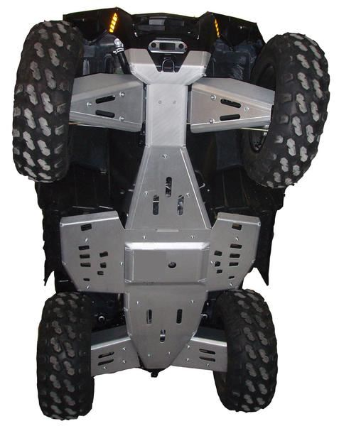 8-Piece Complete Aluminum or with UHMW Layer Skid Plate Set, Polaris Sportsman 850