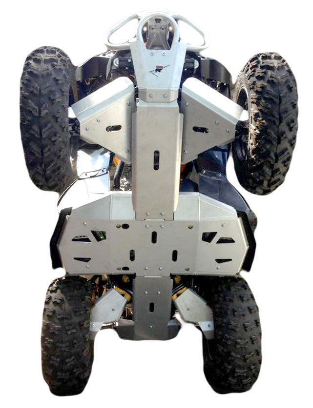 8-Piece Complete Aluminum Skid Plate Set, Can-Am Renegade 650