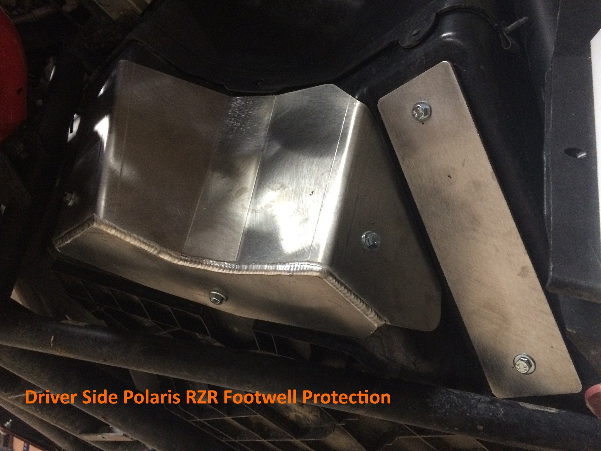 2-Piece Footwell Skid Plate Set, Polaris RZR-S 1000