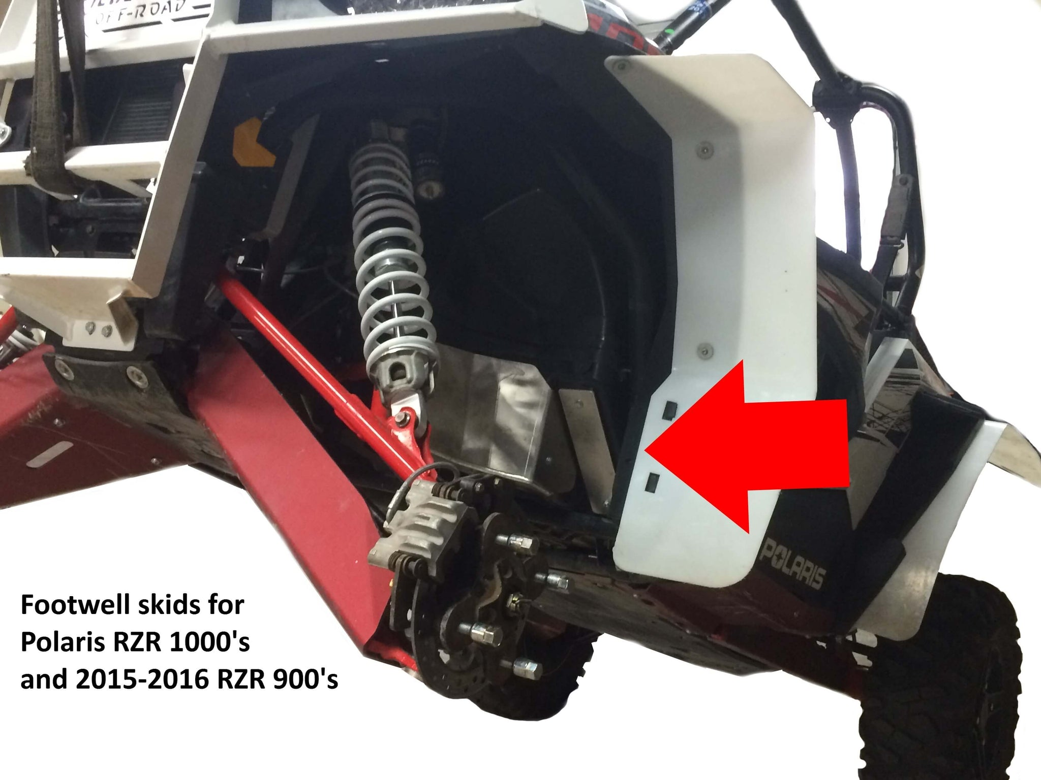 2-Piece Footwell Skid Plate Set, Polaris RZR-4 900