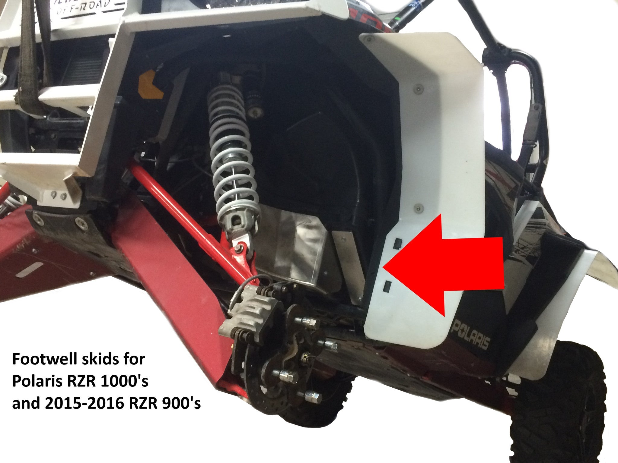 2-Piece Footwell Skid Plate Set, Polaris RZR 900 Trail