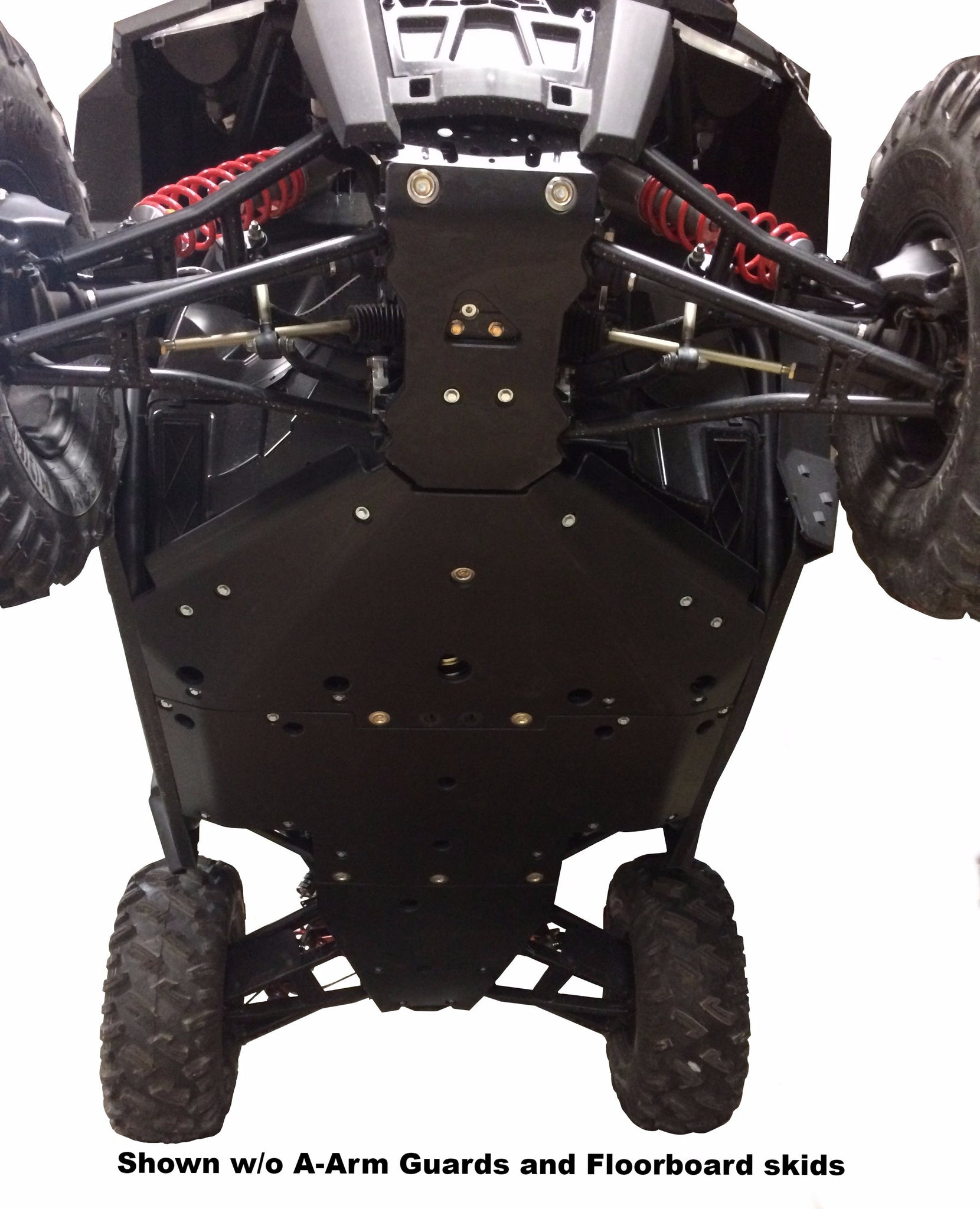 10-Piece Complete Aluminum or UHMW Skid Plate Set, Polaris RZR 900 Trail