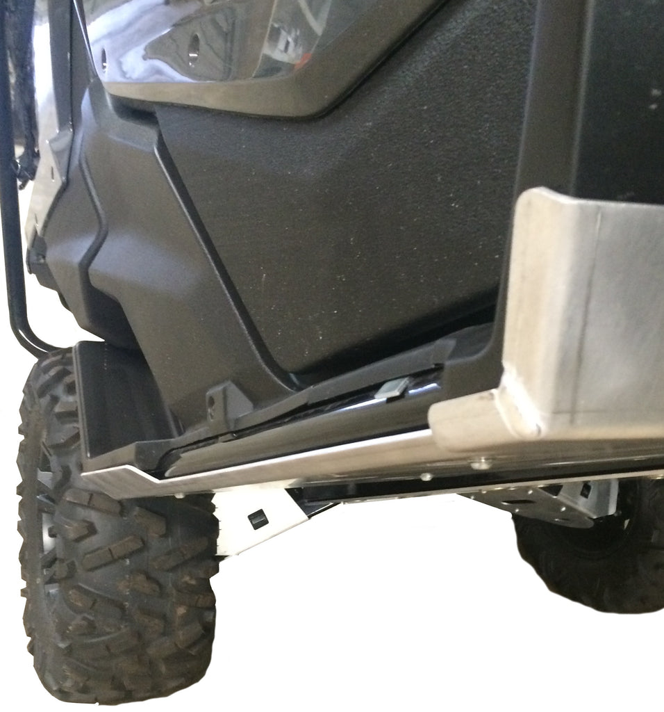 2-Piece Rock Slider & Floor Board Skid Plate Set, Honda Pioneer 1000