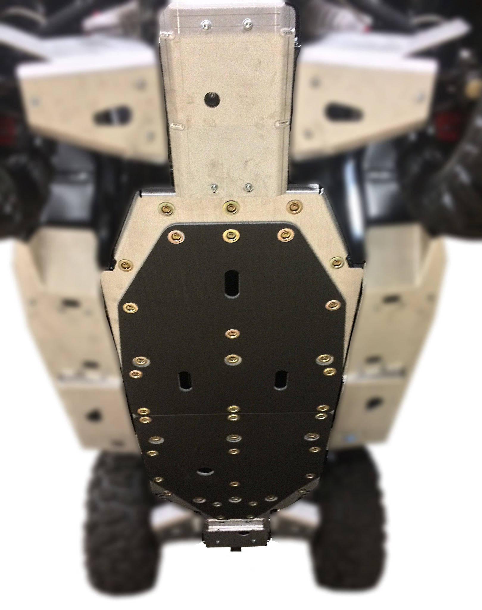 3-Piece Full Frame Skid Plate Set, CFMOTO ZForce 800 EX