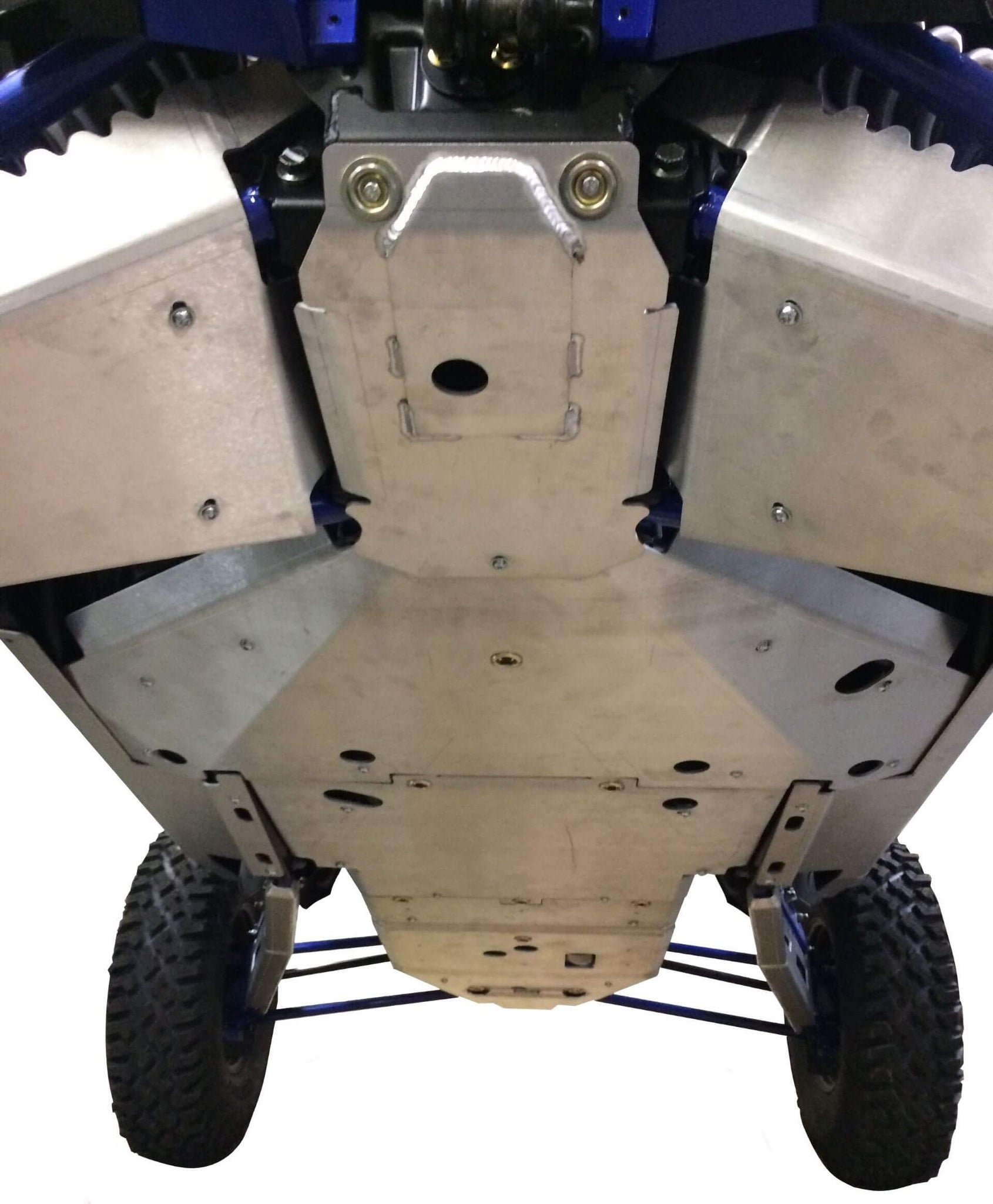 10-Piece Complete Aluminum or UHMW Skid Plate Set, Polaris RZR XP Turbo S