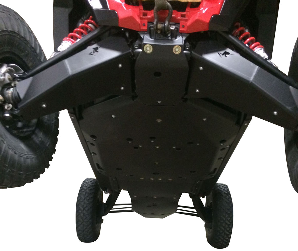 11-Piece Complete Aluminum or UHMW Skid Plate Set, Polaris RZR XP-4 Turbo S