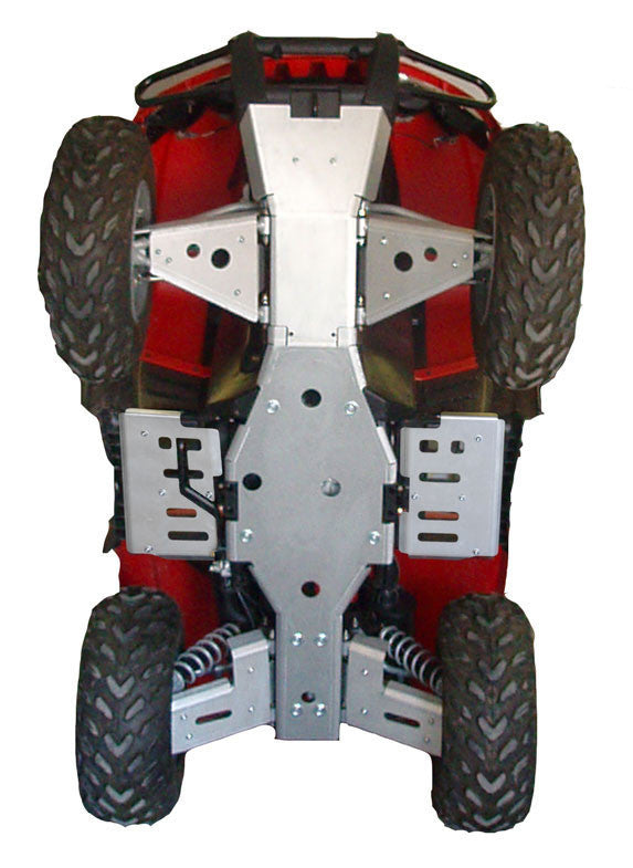 8-Piece Complete Aluminum Skid Plate Set, Arctic Cat 550 TRV Limited