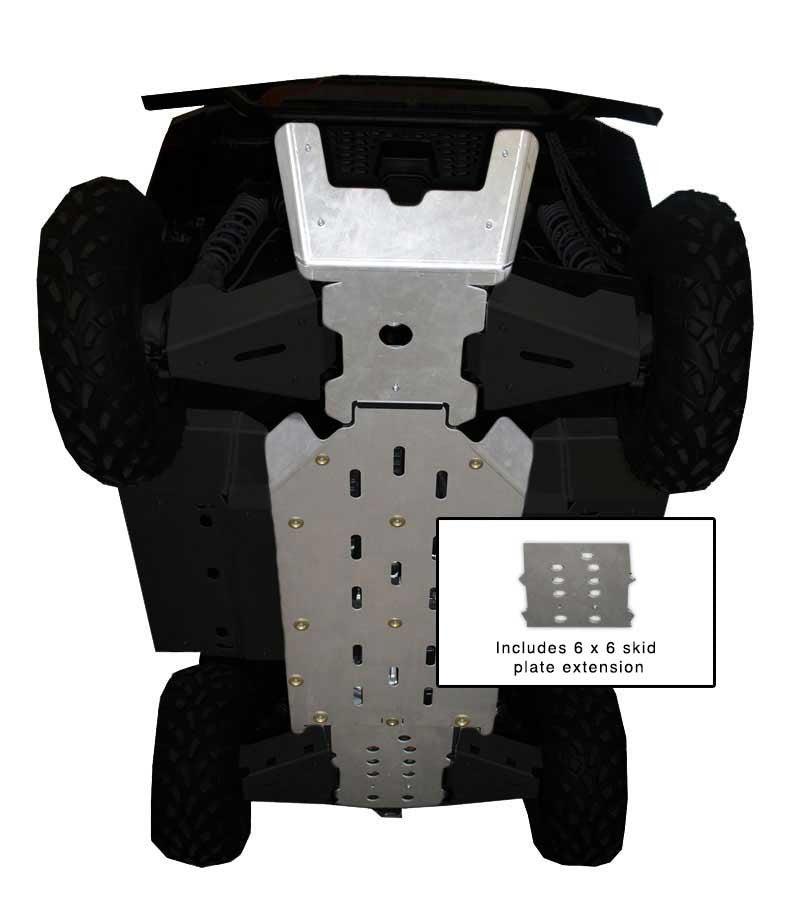 4-Piece Full Frame Skid Plate Set, Polaris Ranger 800 6x6
