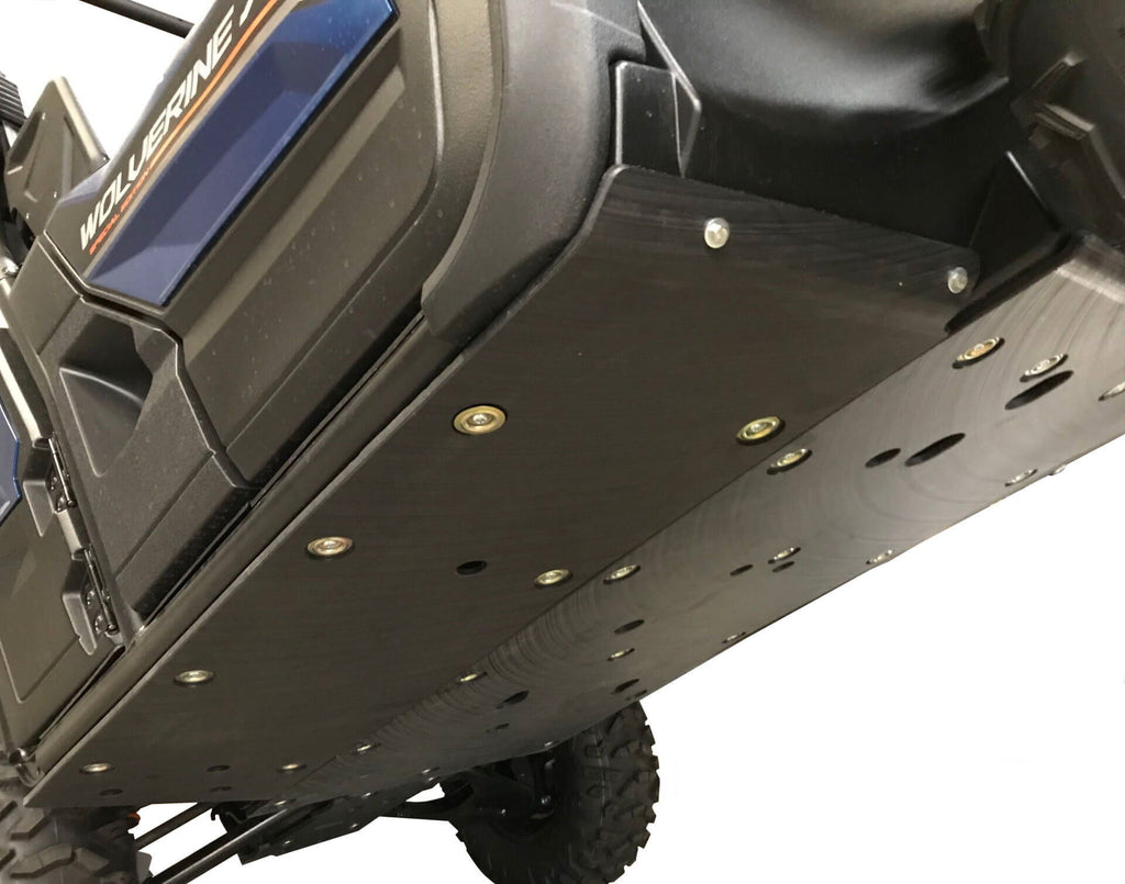 2-Piece Floorboard Skid with Rock Sliders, Yamaha Wolverine X4