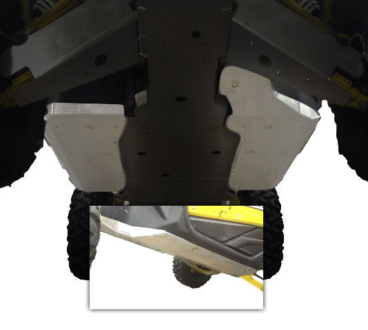 2-Piece Floorboard Skid with Rock Sliders, Yamaha YXZ1000